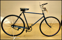 1920 bike with 'retro direct gearing', pedal backwards for low gear, pedal forward for high gear !!