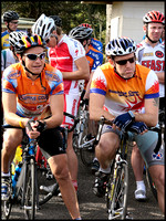 Matty and Coffee Ride King listen to the Commissaires' address at Maleny.