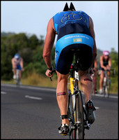 Peter Degnian, 24th in 90 - 99 kg Clydesdale class, Noosa Tri club